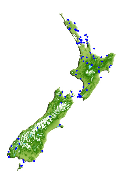 Locations of New Zealand sanctuary projects